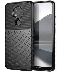 Nokia 3.4 Twill Thunder Texture Back Cover Zwart