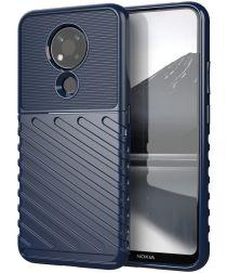 Nokia 3.4 Twill Thunder Texture Back Cover Blauw