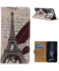 Nokia 2.4 Book Case Hoesje Wallet Met Eiffeltoren Print