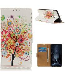 Nokia 2.4 Book Case Hoesje Wallet Met Gekleurde Boom Print