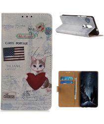 Nokia 2.4 Book Case Hoesje Wallet Met Print Cool Cat