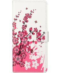 Nokia 3.4 Hoesje Portemonnee Book Case met Blossom Print