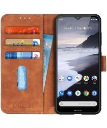 Nokia 2.4 Hoesje Retro Wallet Book Case Bruin