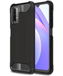 Xiaomi Poco M3 Hoesje Shock Proof Hybride Back Cover Zwart
