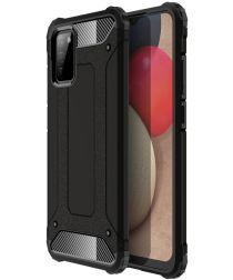 Samsung Galaxy A02S Hoesje Shock Proof Hybride Back Cover Zwart