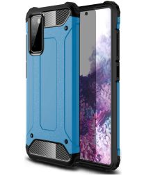 Samsung Galaxy A32 Hoesje Shock Proof Hybride Back Cover Blauw