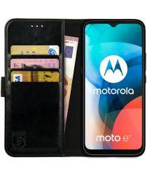 Rosso Element Motorola Moto E7 Hoesje Book Cover Zwart