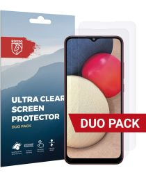 Rosso Samsung Galaxy A02S Ultra Clear Screen Protector Duo Pack