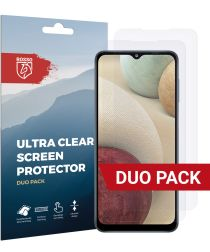 Rosso Samsung Galaxy A12 Screen Protector Ultra Clear Duo Pack