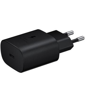 Originele Samsung USB-C Snellader (25W) Zwart Opladers