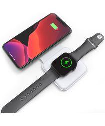 4smarts Dubbele Apple MagSafe 15W Draadloze Oplader met USB-C Kabel