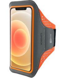Mobiparts Comfort Fit Sport Armband Apple iPhone 12 Mini Oranje