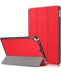 Apple iPad 10.2 2019 / 2020 Hoesje Tri-Fold Book Case Rood