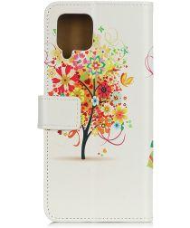 Samsung Galaxy A42 Book Case Hoesje Wallet Met Boom Print