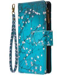 Samsung Galaxy A42 Book Case Hoesje Wallet Met Blossom Print