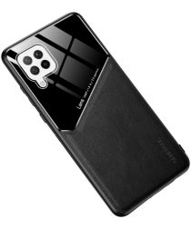 Samsung Galaxy A42 Hoesje TPU Hybride Back Cover Zwart