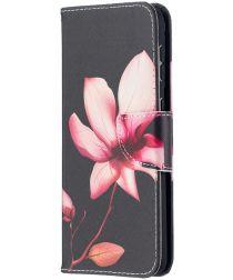 Samsung Galaxy S21 Plus Portemonnee Hoesje met Bloemen Print