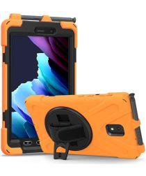 Samsung Galaxy Tab Active 3 Kickstand Hoesje Met Handriem Oranje