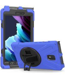 Samsung Galaxy Tab Active 3 Kickstand Hoesje Met Handriem Blauw