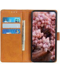 Samsung Galaxy A02S Hoesje Hoesje met Pasjes Book Case Kunstleer Bruin