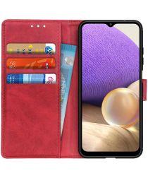 Samsung Galaxy A32 5G Hoesje Portemonnee Book Case Rood