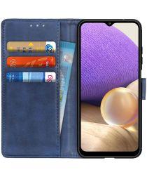 Samsung Galaxy A32 5G Hoesje Portemonnee Book Case Blauw