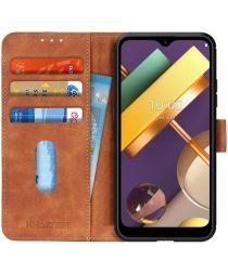 LG K22 Hoesje Retro Wallet Book Case Bruin