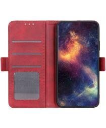 LG K22 Hoesje Portemonnee Book Case Rood