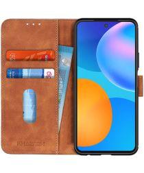 Huawei P Smart 2021 Hoesje Retro Wallet Book Case Bruin