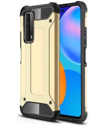 Huawei P Smart 2021 Hoesje Hybride Shock Proof Back Cover Goud