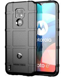 Motorola Moto E7 Hoesje Shock Proof Rugged Shield Zwart