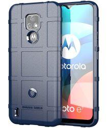 Motorola Moto E7 Hoesje Shock Proof Rugged Shield Blauw