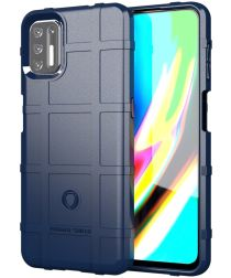 Motorola Moto G9 Plus Hoesje Shock Proof Rugged Shield Blauw