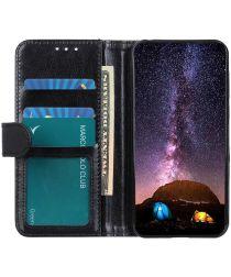 Motorola Moto G9 Power Hoesje Portemonnee Crazy Horse Book Case Zwart