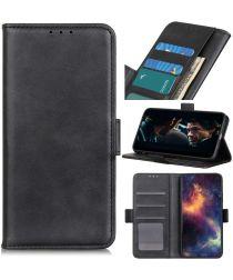 Motorola G9 Power Book Case Hoesje Book Case Retro Wallet Zwart