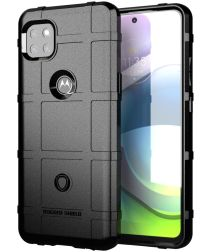 Motorola Moto G 5G Hoesje Shock Proof Rugged Shield Zwart