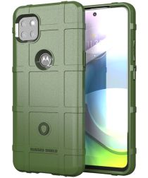 Motorola Moto G 5G Hoesje Shock Proof Rugged Shield Groen