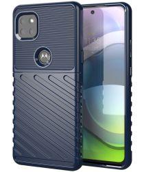 Motorola Moto G 5G Hoesje TPU Thunder Design Blauw