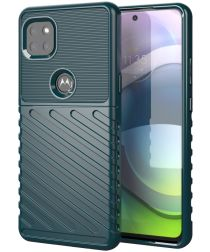 Motorola Moto G 5G Hoesje TPU Thunder Design Groen