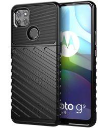 Motorola Moto G9 Power Hoesje TPU Thunder Design Zwart