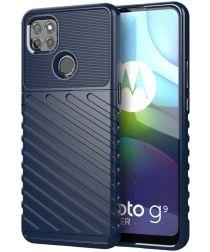 Motorola Moto G9 Power Hoesje TPU Thunder Design Blauw