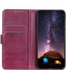 Motorola Moto G9 Power Hoesje Wallet Book Case Rood
