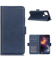 Motorola Moto G 5G Book Case Hoesje Book Case Retro Wallet Blauw