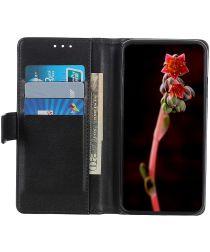 Motorola Moto G 5G Hoesje Portemonnee Kunstleer Book Case Zwart