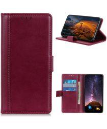 Motorola Moto G 5G Hoesje Wallet Book Case met Pasjes Rood