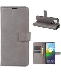Motorola Moto G9 Power Portemonnee Bookcase Hoesje Grijs
