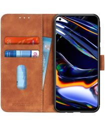 Realme 7 Pro Hoesje Retro Wallet Book Case Bruin