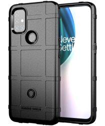 OnePlus Nord N10 Hoesje Shock Proof Rugged Shield Zwart