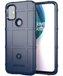 OnePlus Nord N10 Hoesje Shock Proof Rugged Shield Blauw