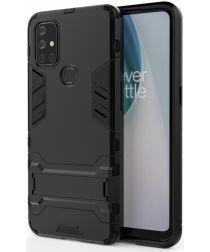 OnePlus Nord N10 Hoesje Shock Proof Back Cover Met Kickstand Zwart